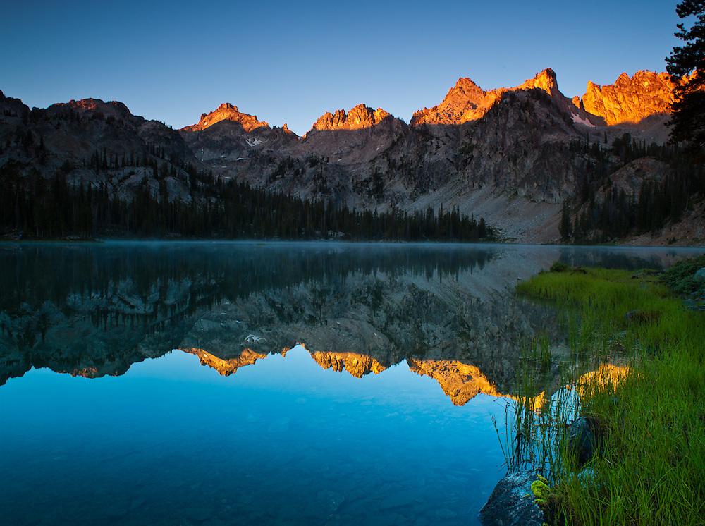 Alice Lake at sunrise, Sawtooth Range, Idaho