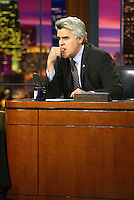 23 May 2003: TV host Jay Leno on the set of a night taping of NBC's hit The Tonight Show with Jay Leno at the NBC Studios in Burbank, CA.