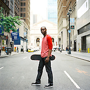NEW YORK CITY - MAY 7 : Skateboarder Preston Pollard in New York City.