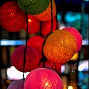 Lighted balls, Khaosarn Road, Bangkok, Thailand