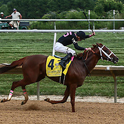 I'm a Chatterbox & Jockey F. Geroux wins the $750K purse during The 79th Delaware Handicap Saturday, June. 16, 2016 at Delaware Park Race Track in Wilmington Delaware.