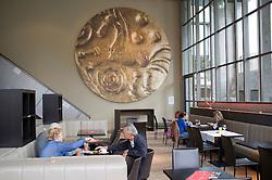 Cafe inside the new Gallo-Roman Museum in Tongeren in Belgium