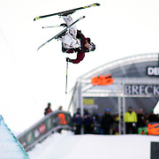 SHOT 12/17/10 4:21:57 PM - Noah Bowman of Calgary, Canada competes during qualifiers for the Ski Superpipe event during the Nike 6.0 Open stop of the Winter Dew Tour at Breckenridge Ski Resort in Breckenridge, Co. The event features ski and snowboard slopestyle and superpipe. (Photo by Marc Piscotty / © 2010)