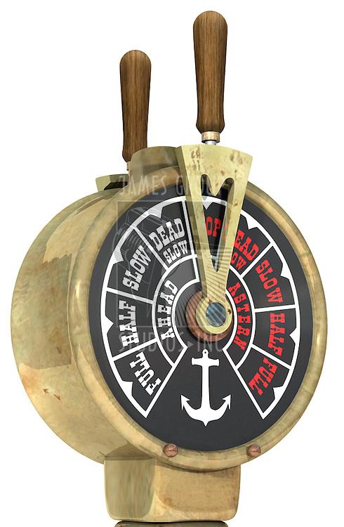 Vintage ship's telegraph