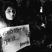 India was stunned when a 23 year old female physiotherapy intern was beaten and brutally gang raped by six men on a moving bus in New Delhi on 16 December, 2012 and thrown out of the vehicle, almost dead. She was first taken to Safdarjang Hospital, received multiple surgeries, and was placed on mechanical ventilation. Though still critical, the victim tried her best to communicate with her doctors by writing notes. On 26 December, 2012 she was moved to Singapore for further treatment, where she died on 29 December while undergoing emergency treatment for brain and gastrointestinal damage from the assault.  Image © Subrata Biswas/Falcon Photo Agency