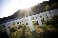 Potocari memorial (Srebrenica zone). July 11 1995 serbian troops commanded by Ratko Mladic killed 8000-10000 Bosnian muslims.<br /> July 11th will mark 20 years of anniversary of the genocide