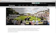 Website screenshot of Goodwood Racecourse in West Sussex featuring commercial photography by Christopher Ison. <br /> Picture date: Monday April 25, 2016.<br /> Photograph by Christopher Ison &copy;<br /> 07544044177<br /> chris@christopherison.com<br /> www.christopherison.com
