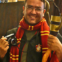 Spanish photographer KIKE CALVO dressed up as Harry Potter at Universal Theme Park