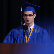 Alexis I. duPont High School valedictorian Jeremy Soja addresses students and family during duPont High School commencement exercise Saturday, June 06, 2015, at The Bob Carpenter Sports Convocation Center in Newark, Delaware.