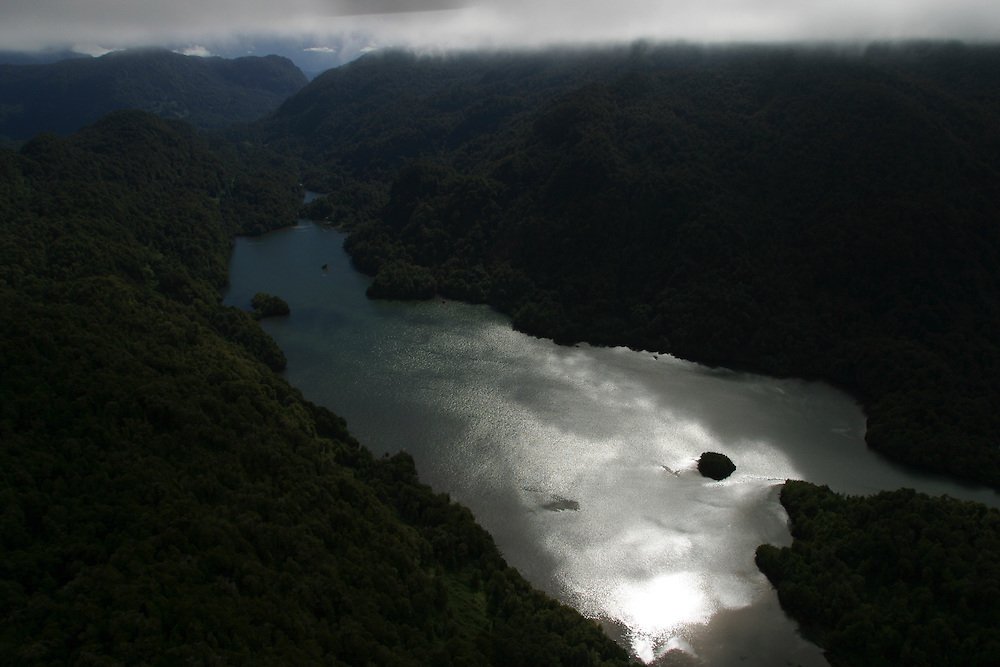 The Rio Condor, pictured, would be affected by a proposed dam for the Alumysa plant  in Chile, Feb. 4, 2004. Daniel Beltra/Greenpeace.