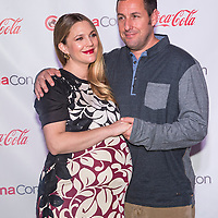 LAS VEGAS - MARCH 27:  Female and Male Star of the Year award winners, Drew Barrymore and Adam Sandler arrives at The CinemaCon Big Screen Achievement Awards at The Caesars Palace on March 27, 2014 in Las Vegas