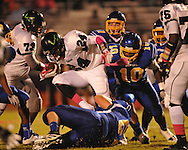 Oxford High's Joel Forrester (61) and Oxford High's Mike McGhee (10) vs. Lake Cormorant in Oxford, Miss. on Friday, October 5, 2012. Oxford High won 26-0.