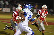 Water Valley's C.J. Jackson (26) runs vs. South Pontotoc in Pontotoc, Miss. on Friday, October 7, 2011.