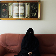 Arhus, Denmark, April 13, 2010. Aisha, 42, danish, converted to Islam 22 years ago.