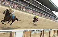 Afleet Alex takes the 2005 Belmont Stakes by an easy 15 lengths.