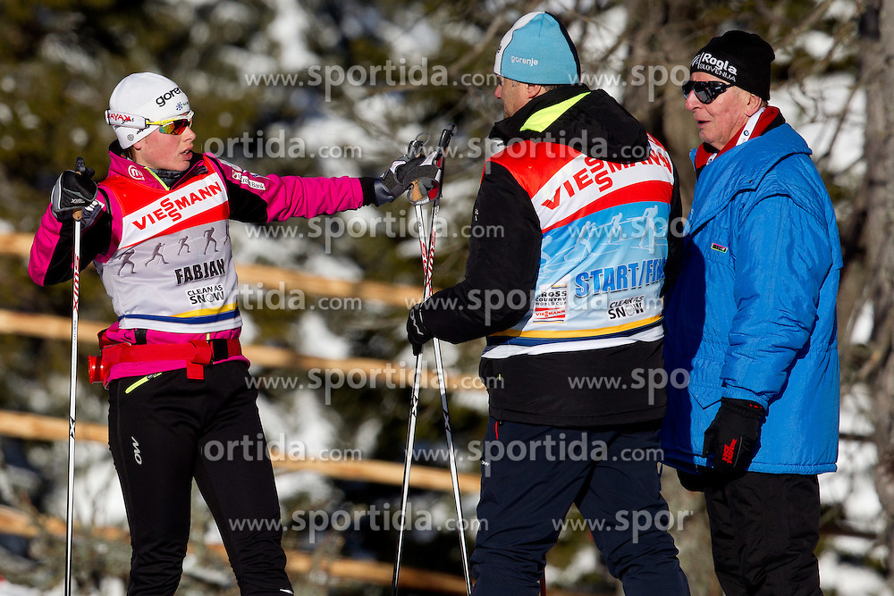 FABJAN Vesna  of Slovenia and coach Marko Gracer prior to the Ladies 1.0 km Free Sprint Quarterfinal race at FIS Cross Country World Cup Rogla 2011, on December 18, 2011 at Rogla, Slovenia. (Photo By Vid Ponikvar / Sportida.com)