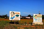 Farm signs near San Juan y Martinez, Pinar del Rio, Cuba.