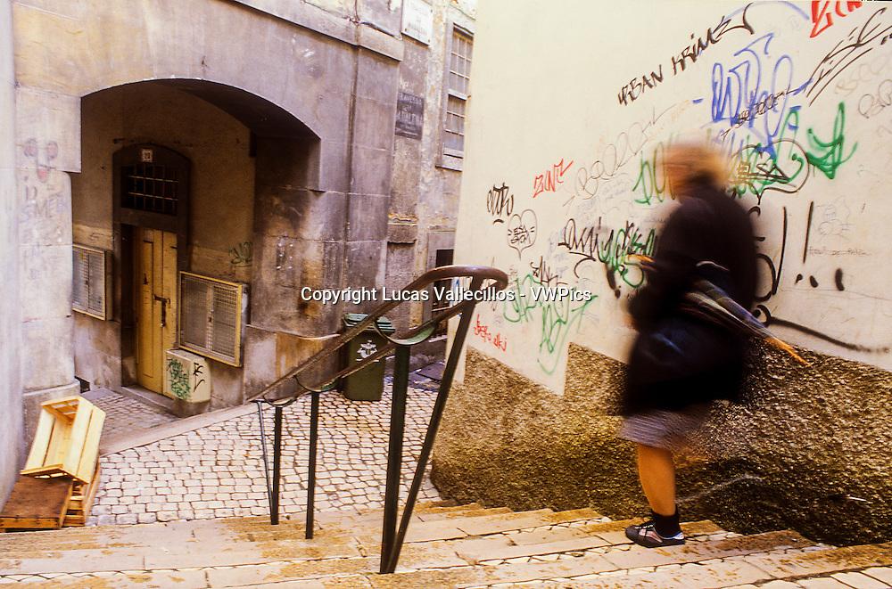Escadinhas de Sao Cristovao,Alfama,Lisboa, Portugal