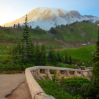 View of Mount Rainier from Paradise - Mount Rainier National Park, WA