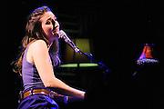 Sara Bareilles performs at Joe's Pub in New York City. February 17, 2009.