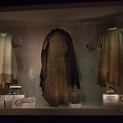 Lisa Johnston | lisajohnston@archstl.org The habit worn by Saint Clare (two on the left) and Saint Francis (right) in the museum beneath the Basilica of St. Clare.