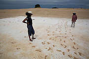 Pleistocene human footprints: Willandra Lakes in southeastern Australia..Tanya Charles and Junette Mitchell both part of the traditional ownership.of the land with the human prints found that optical simulated luminescence dating estimates are that they are 19-23 ka old...