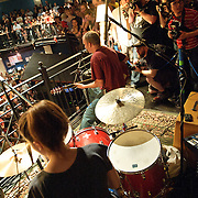 Washington, D.C. - May 31, 2010:  The Evens (featuring Ian MacKaye) perform on the 2nd-floor balcony at the 30th Anniversary concert at the legendary 9:30 Club. (Photo by Kyle Gustafson/For The Washington Post)