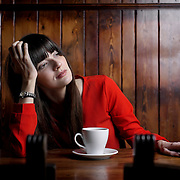 Portrait of actress, Kirsty Strain. BBC Scotland 'Burnistoun'.