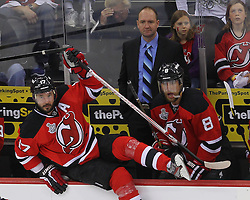 June 2; Newark, NJ, USA; New Jersey Devils head coach Peter DeBoer during the first period of the 2012 Stanley Cup Finals Game 2 at the Prudential Center.