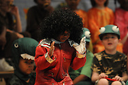 "Bramlett Elementary students perform Wide Mouth Frogs in Oxford, Miss. on Friday, April 16, 2010. James Earl Coleman ended the play by singing Michael Jackson's ""Beat It."""