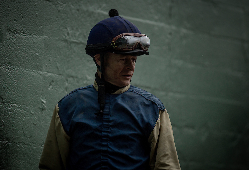 January 10 2014: Jockey, Felipe Martinez at Santa Anita Park in Arcadia CA. Alex Evers/ESW/CSM