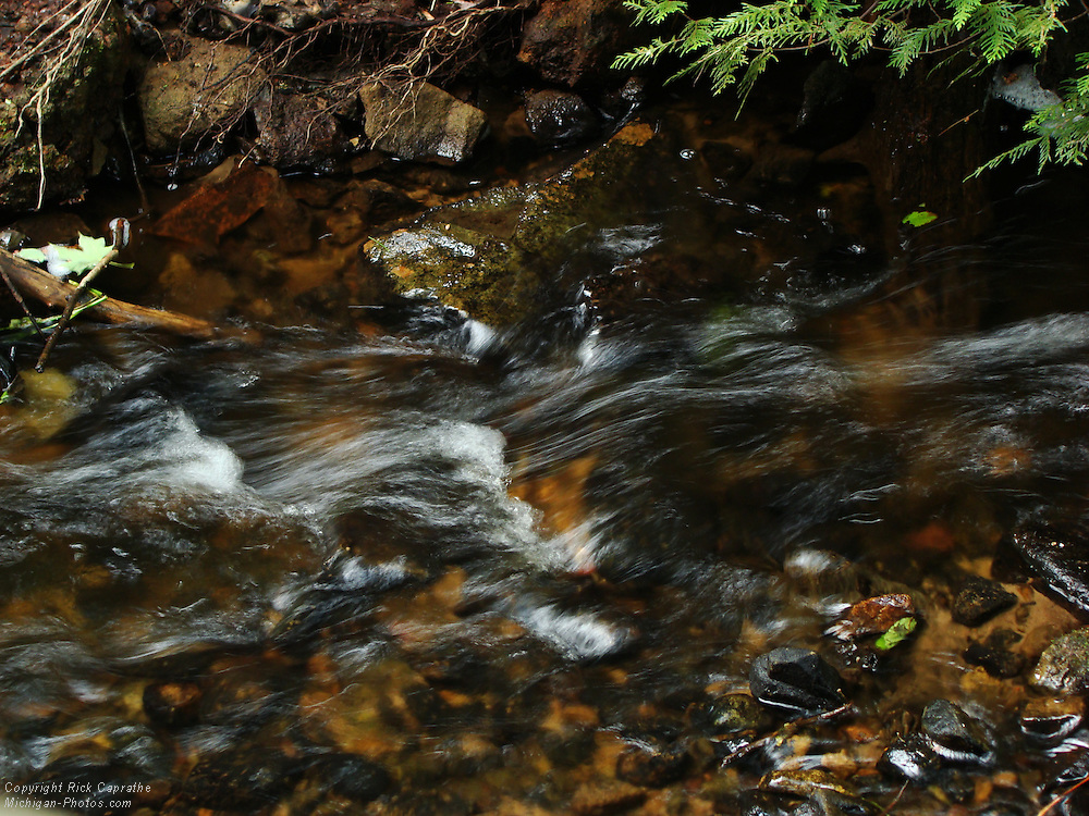Rushing Water, Munising Falls Creek, Michigan's Upper Peninsula