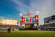 CULIACAN, MEXICO - FEBRUARY 6, 2017: A general wide angle interior day time view as the sun sets before the start of the Caribbean Series semi-final game between Cuba and Mexico at Estadio de los Tomateros on February 6, 2017 in Culiacan, Rosales. (Photo by Jean Fruth)