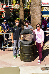 FONTANA (Oct. 19, 2013) – Indycar driver, Ed Carpenter has won the final IZOD IndyCar Series race in dramatic fashion the past two years. Today Carpenter was inducted in the MAVTV 500 Hall of Fame. Ed Carpenter will compete in the final IndyCar race at the Indycar series at the MAVTV 500. 19th October 2013. Fees must be agreed for image use. Byline, credit, TV usage, web usage or linkback must read: SILVEXPHOTO.COM.