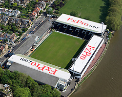 Image &copy;Licensed to i-Images Picture Agency. Aerial views. United Kingdom.<br /> Craven Cottage, home of Fulham FC. Picture by i-Images