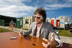 Wayne Coyne of The Flaming Lips, chats backstage. .Rockness, Friday 12th June 2009..Pic © Michael Schofield. All Rights Reserved.