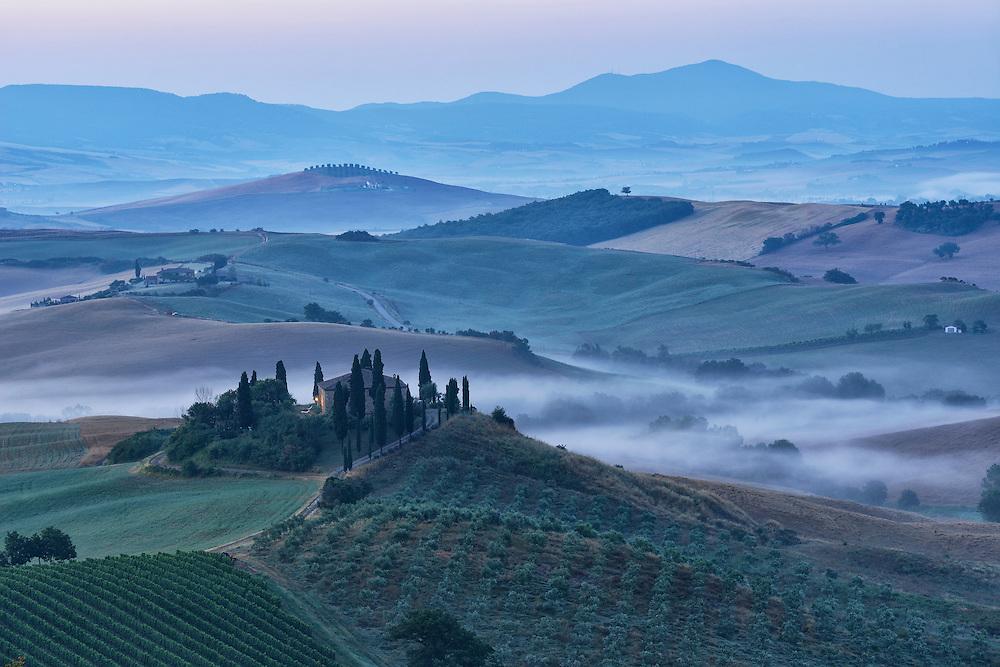 Landscape near San Quirico D'Orcia,Tuscany,Siena Province,Italy,Europe