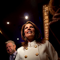 ORLANDO, FL -- September 22, 2011 -- Republican presidential candidate Congresswoman Michele Bachmann greets supporters during the Florida P5 Faith and Freedom Coalition Kick-Off at the Rosen Centre Hotel in Orlando, Fla., on Thursday, September 22, 2011.  Nine Republican presidential candidates congregated for a Fox News / Google Debate.   (Chip Litherland for The New York Times)