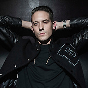 G-Eazy poses for a photograph backstage at The El Rey Theatre on March 9, 2013 in Los Angeles, California.