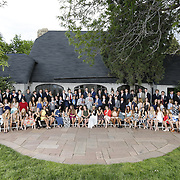 SHOT 6/1/16 5:33:47 PM - Colorado Academy Senior Class portrait in front of the Wellborn House and Class of 2016 Commencement Dinner at the Denver, Co. private school. (Photo by Marc Piscotty / © 2016)