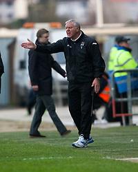 Jim Jeffries, Dunfermline's manager..Falkirk 1 v 0 Dunfermline, 16/2/2013..©Michael Schofield.