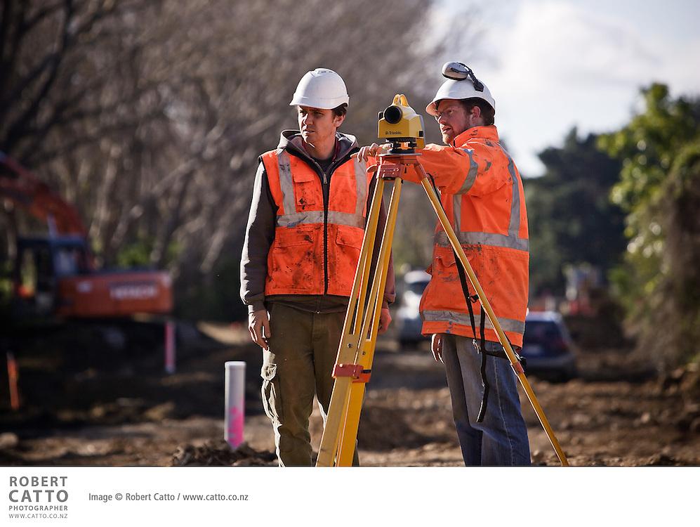 Brian Perry Civil / Fletcher Construction site at MacKay's Crossing, Wellington