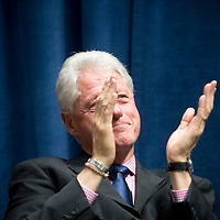 An agreement between the Department for International Development (DFID), the Governments of Rwanda and Malawi and Band Aid/The Hunter Foundation, and managed by the Clinton Hunter Development Initiative (CHDI) was launched at the DFID offices in London. Photo shows former US President Bill Clinton clapping.