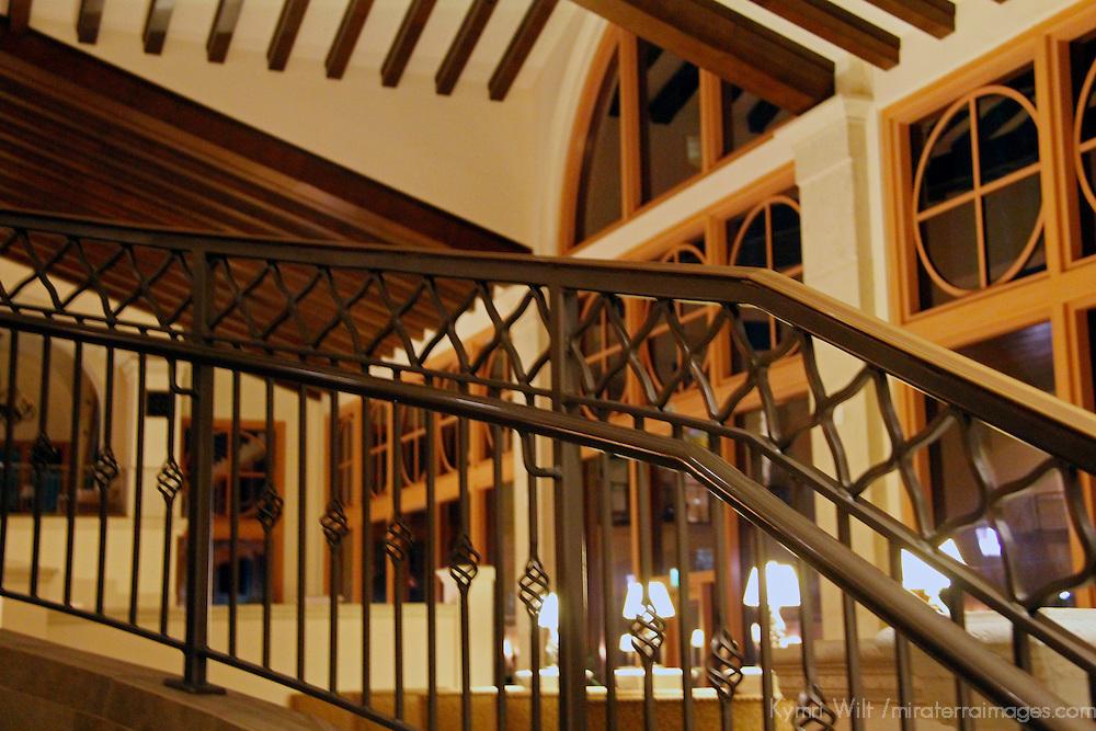 USA, Florida, Orlando. Interior lines and angles at Rosen Shingle Creek Resort.