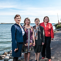 From Left to Right: Finnish ambassadors Hannele Voionmaa (Algeria), Tanja Jääskeläinen (Tunisia & Lybia), Christina Harttila (Morocco) and Tuula Yrjölä (Egypt) photographed in Helsinki on August 23rd 2013.