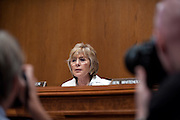 "Aug 4, 2010 - Washington, District of Columbia, U.S., - Senator BARARA BOXER (D-CA) quesitons witnesses during an Environment and Public Works Committee hearing on ""Oversight Hearing on the Use of Oil Dispersants in the Deepwater Horizon Oil Spill."".(Credit Image: © Pete Marovich/ZUMA Press)"
