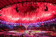 RIO DE JANEIRO -  De sluitingsceremonie van de Olympische Spelen van Rio in het Maracana stadion. ANP ROBIN UTRECHT