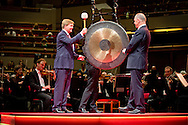 UTRECHT - King Willem-Alexander of The Netherlands opens the new Tivolo Vredenburg concert building in Utrecht, The Netherlands, 3 July 2014. The new building have 5 concert halls for Pop, Jazz and classic music.  COPYRIGHT ROBIN UTRECHT