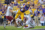 September 5, 2014: LSU Tigers quarterback Brandon Harris (6) dives toward the endzone during a game between New Mexico State and No. 17/18 LSU at Tiger Stadium in Baton Rouge, LA.