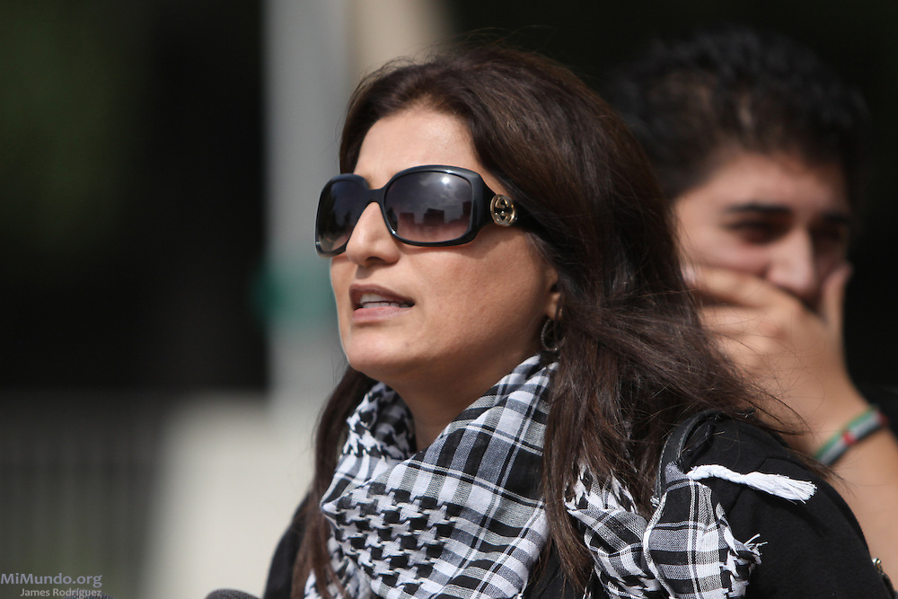 """Sophia Habbas, Juris Doctor from Orange County, reacts to the verdict of the so-called Irvine 11 by claiming """"this country should now be called the United States of Israel"""". A jury found ten Muslim students from the University of California, Irvine, guilty of disrupting a February 2010 speech at the university's campus by Michael Oren, Israeli ambassador to the United States. Orange County Superior Court Judge Peter Wilson sentenced each student to three years of probation, 56 hours of community service, and ordered each to pay $270 in fines."""